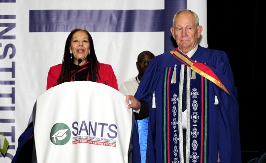 SANTS' former Executive Academic Director, Prof J Baxen and Founder, Dr P Bernard