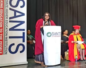 Dr Bipath, Keynote Speaker at a recent Diploma in Grade R Teaching Qualification Ceremony